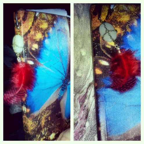 Bookmark With Charm & Feather