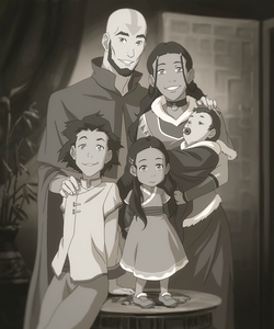 Tenzin and his family when he was a child.
