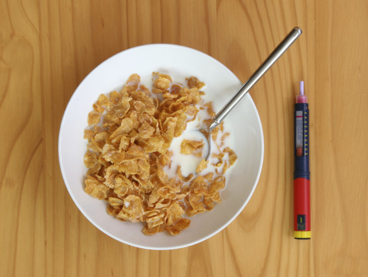 A bowl of puffed cornflakes: unsubstantial, unsatisfying, and unhealthy, followed by a dose of insulin.