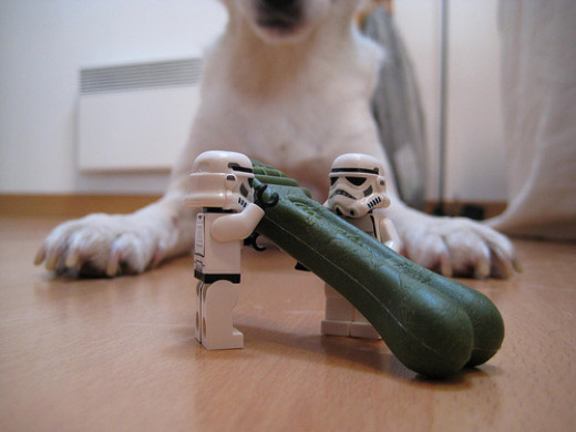 No fair, Storm Troopers are stealing my Greenies!