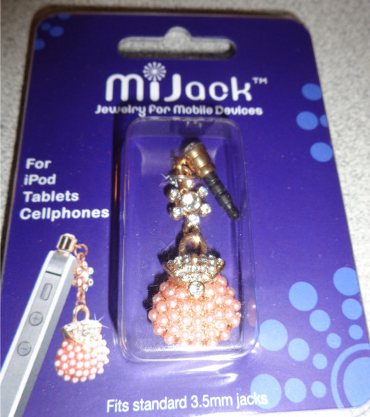MiJack Jewelry for Mobile Devices - Pink Purse