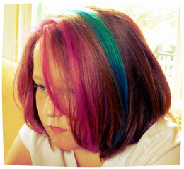 Semi permanent hair dye can be fun to try out.
