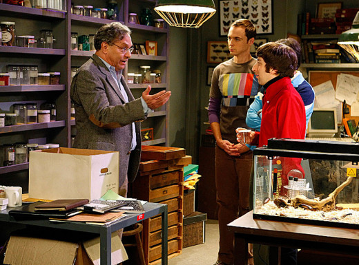 "Lewis Black as Professor Crawley on the ""Big Bang Theory"""