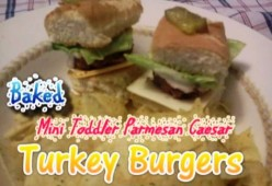 How to Make Baked Mini Caesar Parmesan Turkey Burgers - Easy Recipe for Toddlers & Kids