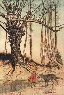 Little Red Riding Hood. The story of a wolf who awaits in grandma's clothing.