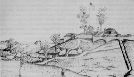 Sketch of Fort Negley at Nashville, TN