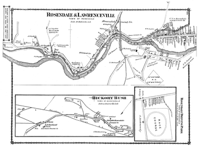 This is an old map of the Lawrencevill/Rosendale region.