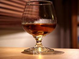 Sipping cognac on a weekend getaway.