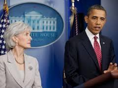 Scam artist...uh...whoops..our POTUS and Kathleen Sebelius, United States Secretary of Health and Human Services