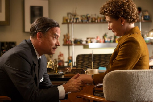 "Tom Hanks (Walt Disney) and Emma Thompson (P.L. Travers) in the film, ""Saving Mr. Banks,"" coming out in December 2013."