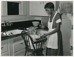 The lower paid jobs: labouring, house-keeping white people's children, these were considered okay job for blacks but not good enough for whites.