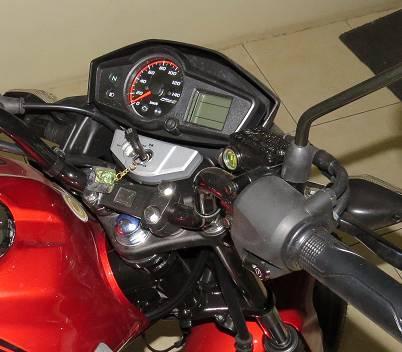 Versa 150: The speedometer.