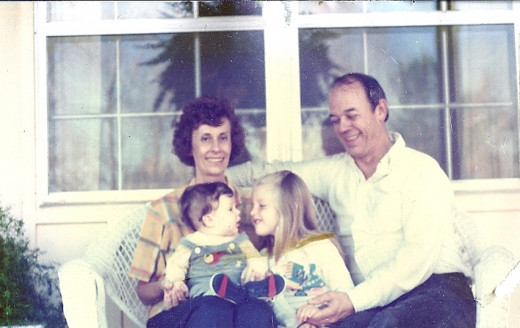Mama Jane, Granddaddy and my two children when they were small.