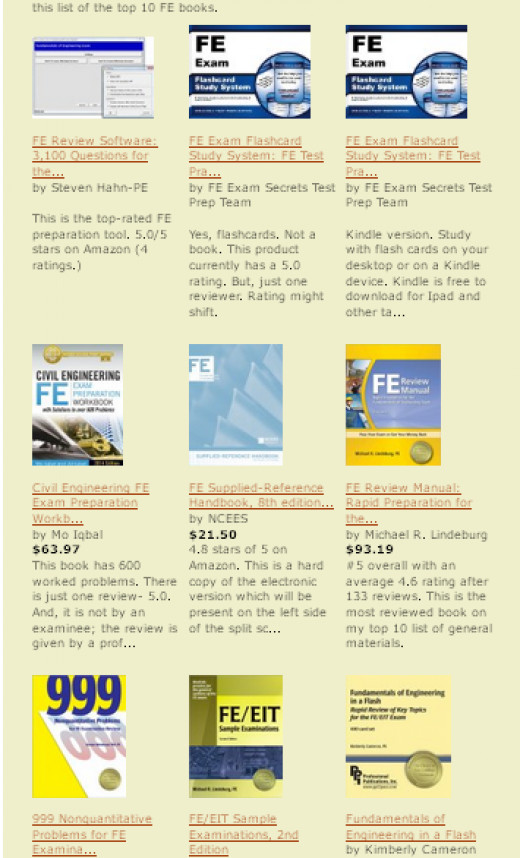 The best FE review materials and sample exams- filtered, qualified, and combined in one place.