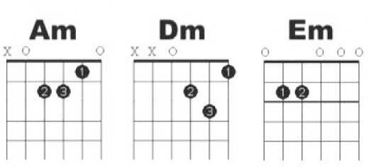 Minor open chords