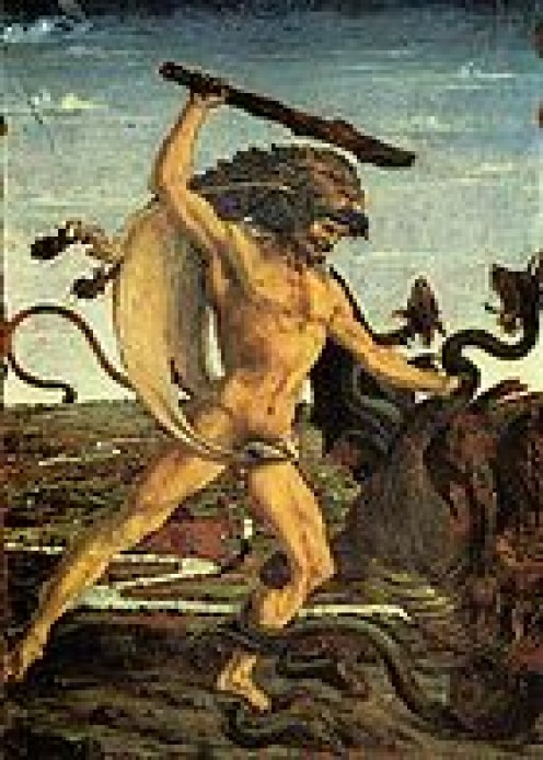 Hercules battles the Hydra