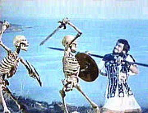 Jason battles skeleton warriors