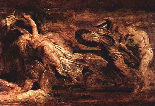 Pluto taking Proserpina by Peter Paul Rubens