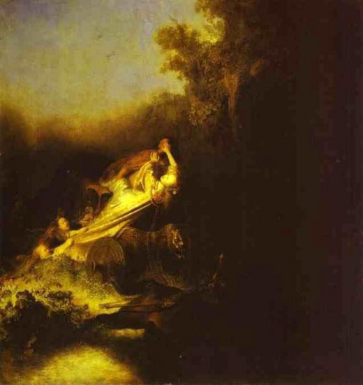 The Abduction of Proserpine by Rembrandt_Harmenszoon van