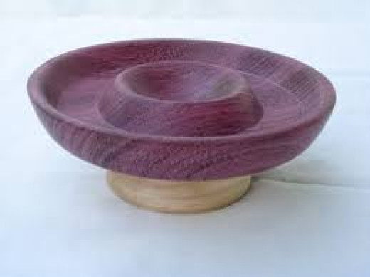 Purpleheart Wood Chim 'n Dip Bowl