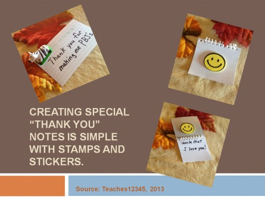 Index cards and small notepads are quick thank you note resources.