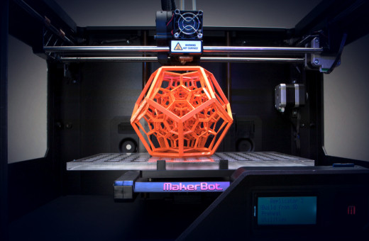 The Object Above Is Being Created By a 3D Printer