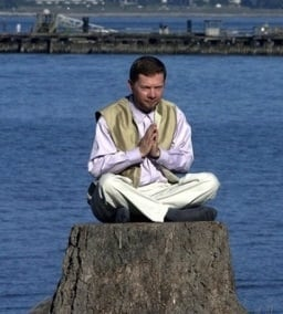 Eckhart Tolle sitting. I cropped this picture to cut out some of the background.