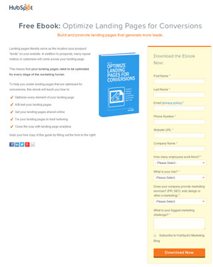 Download Landing Page Optimization Guide by Visiting this Landing Page by Hubspot
