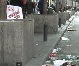 Street full of litter