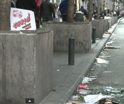 Street full of litter