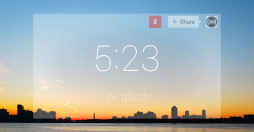 This is the screen which users see through their Google Glass.