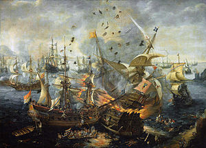 Battle of Gibraltar, where the Dutch fleet destroys the entire Spanish fleet.