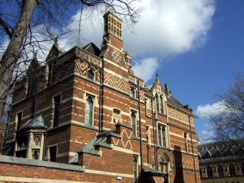 Warden's Lodge, Keble College brickwork, Oxford, England