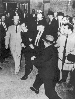 Lee Harvey Oswald before his murder by Jack Ruby.