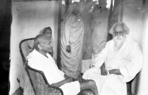 Rabindranath Tagore with Gahndhiji