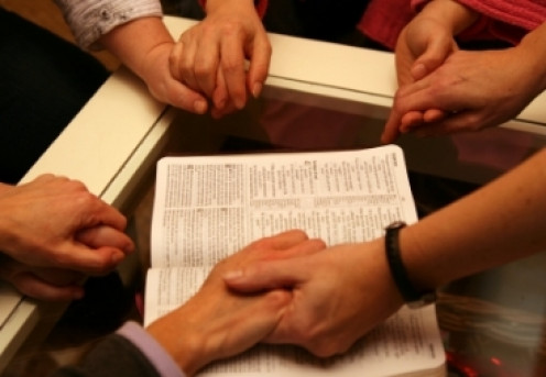 Wielding the sword of the Spirit, the Word of God, during prayer is powerful.
