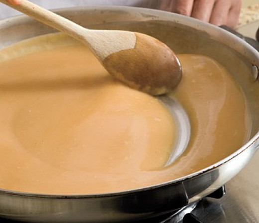 Step 4: Simmer until your gravy thickens, stirring frequently