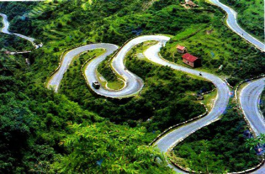 The road up from Dehradun once considered one of the 7 engineering wonders of the world