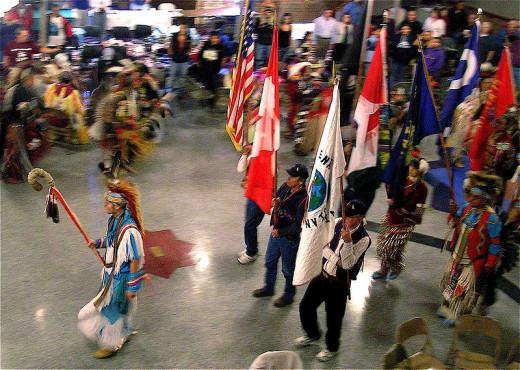 A PowWow Grand Entry.
