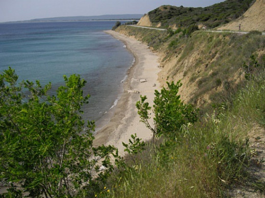 The beaches of Gallipoli provided little in way of cover.