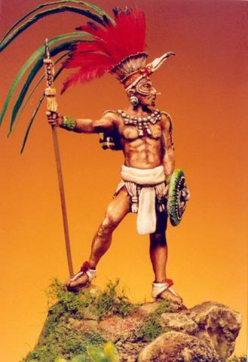 Mayan Warrior standing strong and tall