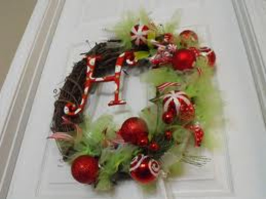 A great variation to a Christmas wreath. These are custom made wreaths.