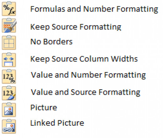 New Paste Special button in Excel 2010.