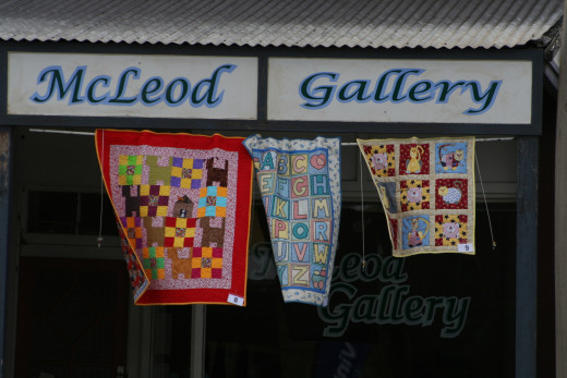 Quilts blowing in the breeze. A perfect way to freshen quilts.