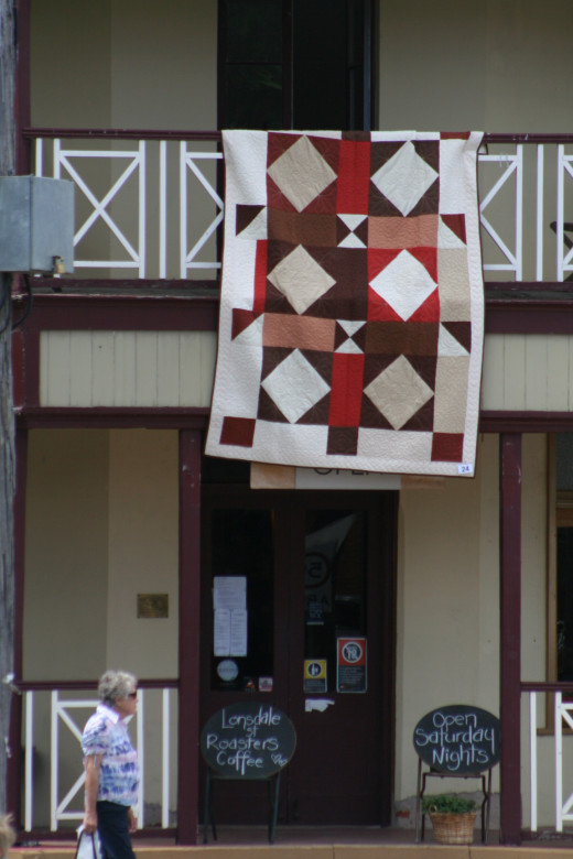 A quilt exhibition is a great place to spot ideas for future quilt designs.