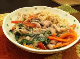 Thai chicken stir fry with coconut milk