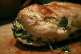 Stuffed chicken breast with spinach and ricotta chese