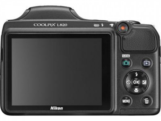 Nikon COOLPIX L820 16 MP CMOS Digital Camera with 30x Zoom Lens and Full HD 1080p Video