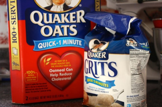 Grits, oatmeal, and other soluble foods can be used to destroy ant nests