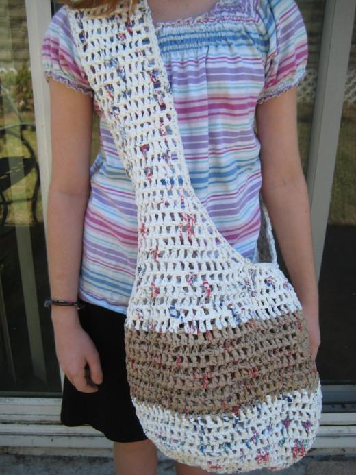 Woven plastic bag